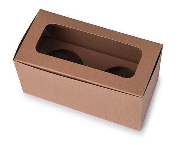 2 Cupcake Box - Kraft Brown