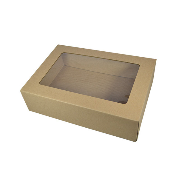 Kraft Brown Display Window Gourmet Gift Box Small