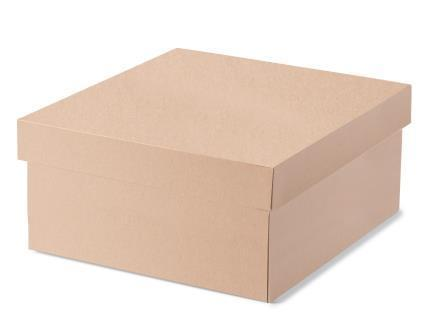 (TEMP OUT OF STOCK EARLY DECEMBER) Large Hamper Box - Kraft Brown