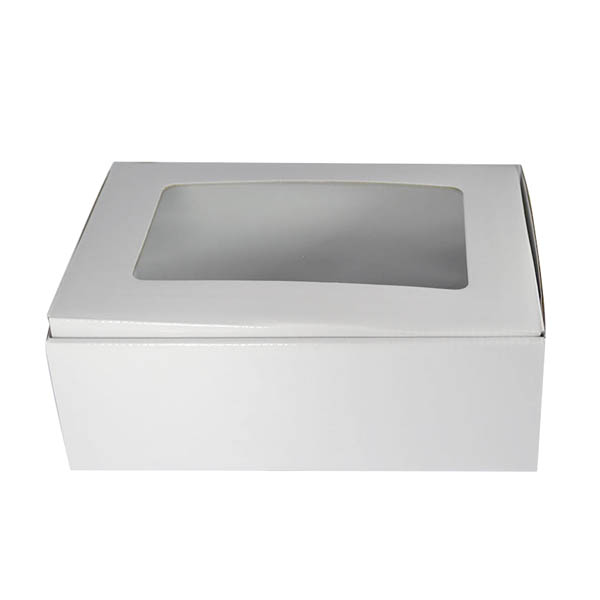 Large Shipper Box with Window - White