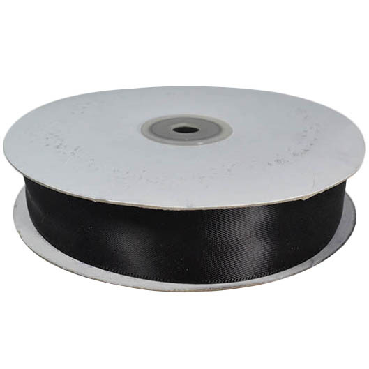 Satin Ribbon (25mm x 45metres) - Black