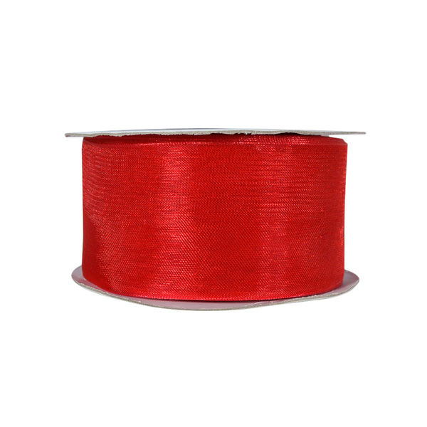 Discontinued Organza Ribbon - 38mm x 22metres - Red  WAS $13.95 NOW $7.95 - Limited Stock