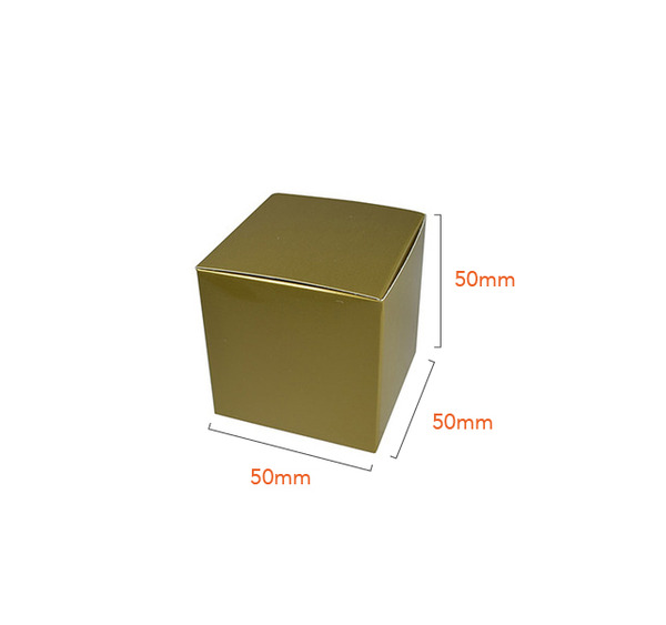 One Piece Cube Box 50mm - Gloss Gold