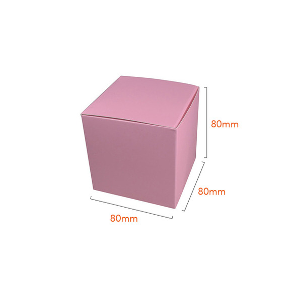 NOW $1.10ea - 130 x One Piece Cube Box 80mm - Matt Pink