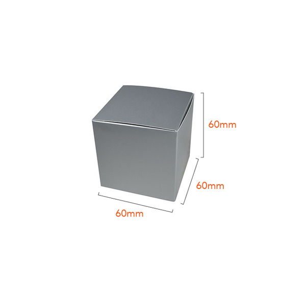 One Piece Cube Box 60mm - Gloss Silver