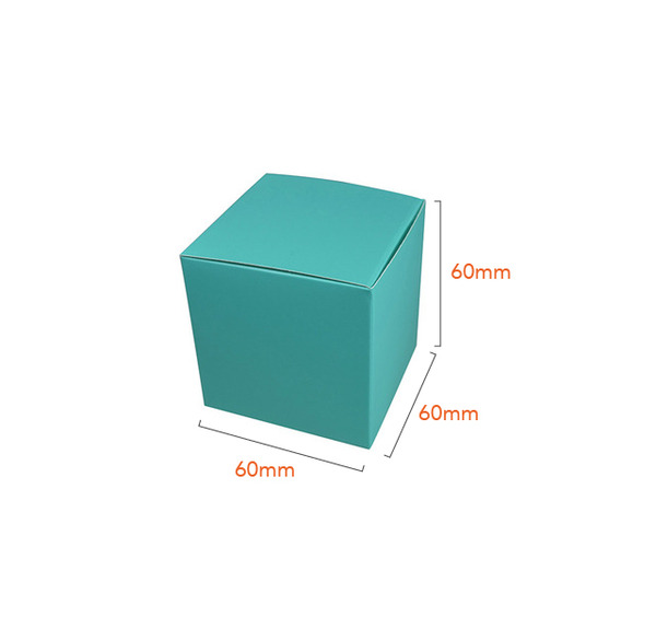 NOW $1.00ea - 300 x One Piece Cube Box 60mm - Matt Blue