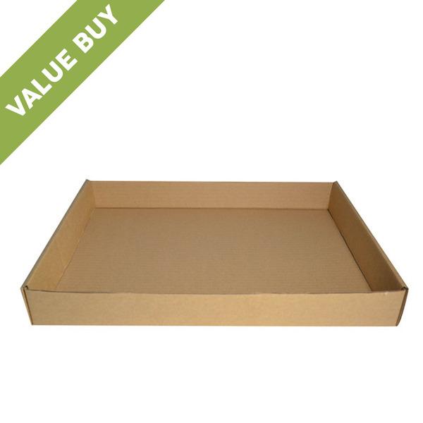 Cardboard Self Locking Food Tray Large Brown Inside Made
