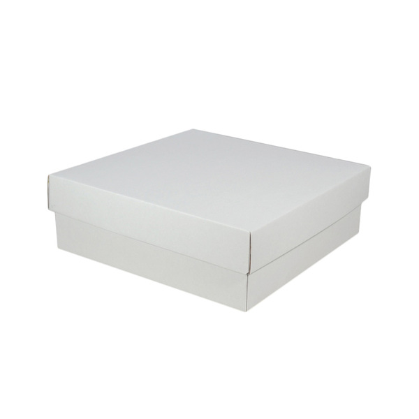 Large Square Cardboard Gift Box - White 100mm High