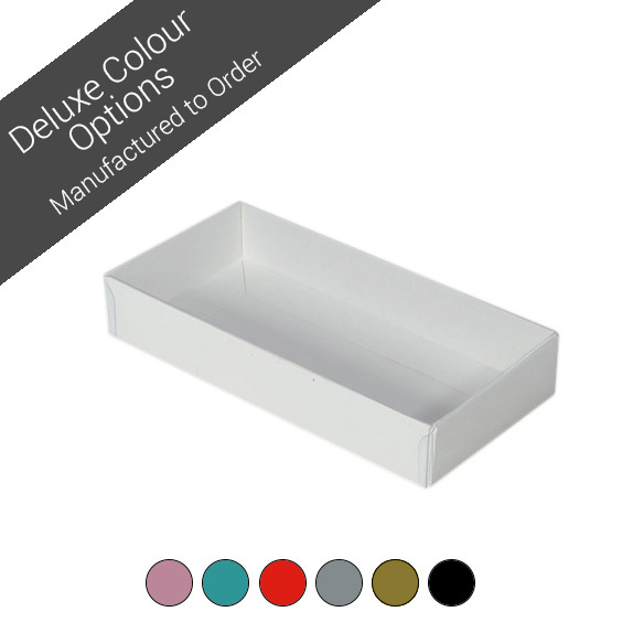 Rectangle 8 Gift Box with Clear Lid - Assorted Colours (Minimum Order 100 units)