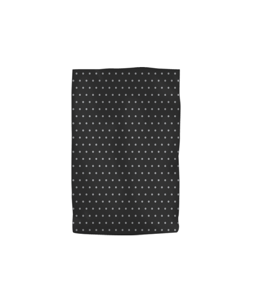 Black Plastic Bag with Silver Dots Baby 1000PK No Handles