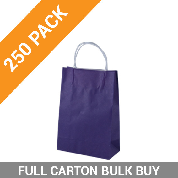 Carnival Paper Gift Bag Junior - Purple 250PK