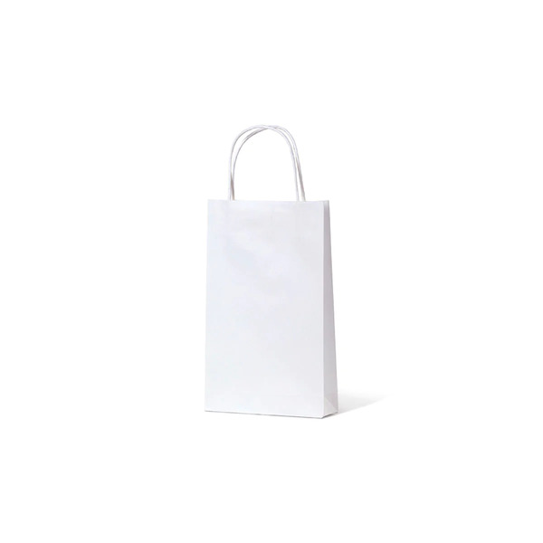White Kraft Paper Gift Bag Baby - 500PK