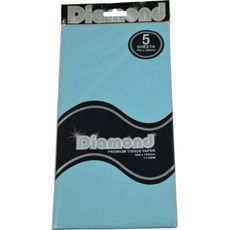 Discontinued Limited Stock - Light Blue Tissue Paper - 500 x 750mm (24 Packs x 5 Sheets Per Pack)