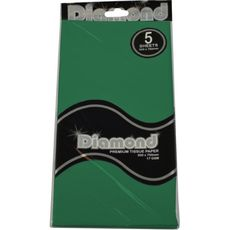 Dark Green Tissue Paper - 500 x 750mm (5 Sheets) - WAS $2.35 NOW $1.20 - Discontinued
