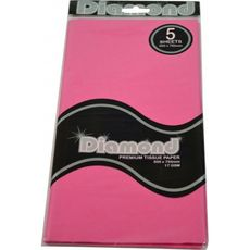 Pink Tissue Paper - 500 x 750mm (5 Sheets) - WAS $2.35 NOW $1.20 - Discontinued