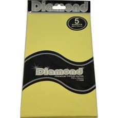 Lemon Tissue Paper - 500 x 750mm (5 Sheets) - WAS $2.35 NOW $1.20 - Discontinued