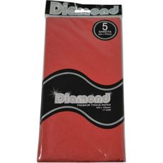 Red Tissue Paper - 500 x 750mm (5 Sheets) - WAS $2.35 NOW $1.20 - Discontinued