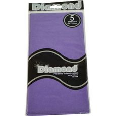 Violet Tissue Paper - 500 x 750mm (5 Sheets) - WAS $2.35 NOW $1.20 - Discontinued