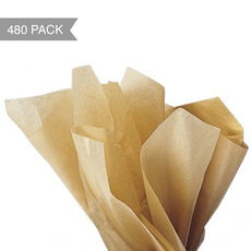 Natural Brown Tissue Paper 500MM x 750cm - (Bulk 480 Sheets)