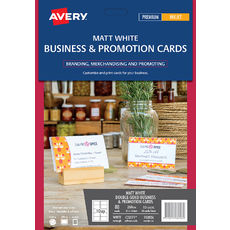 White Double Sided Business & Promotion Cards 260gsm, C32071, 100/Pack, 85 x 54 mm