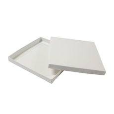 Square Invitation Box-White SemiGloss