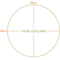 Custom Printed Label - Circle Large - 90mm