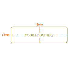 Custom Printed Label - Rectangle  - 63 x 18mm