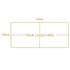 Custom Printed Label - Rectangle  - 34 x 15mm