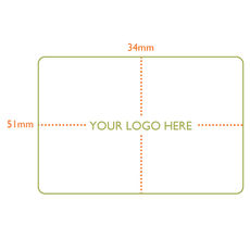 Custom Printed Label - Rectangle  - 51 x 34mm