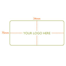 Custom Printed Label - Rectangle  - 75 x 34mm