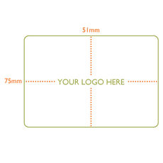 Custom Printed Label - Rectangle  - 75 x 51mm