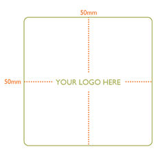Custom Printed Label - Square Small - 50mm