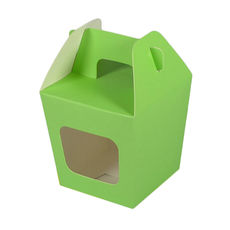 Party Boxes with Window Corf 2 - Green Matt