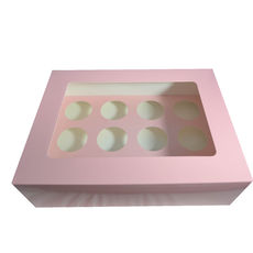 12 Cupcake Box - Gloss Soft Pink