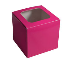 1 Cupcake Box - Gloss Hot Pink