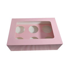 6 Cupcake Box - Gloss Soft Pink