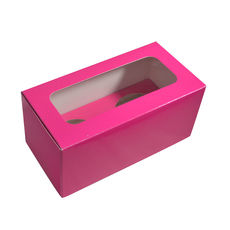 2 Cupcake Box - Gloss Hot Pink
