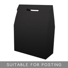 Gable Top Hamper Box - Gloss Black