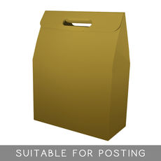 Gable Top Hamper Box - Gloss Gold  (Discontinued – Limited Stock Available)