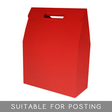 Gable Top Hamper Box - Gloss Red