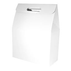 Gable Top Hamper Box - Gloss White