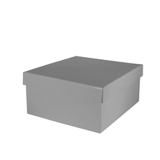 Large Hamper Box - Gloss Silver