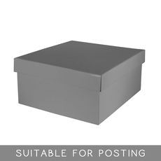 Small Hamper Box - Gloss Silver