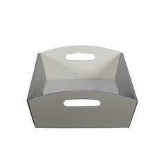 Large Hamper Tray - Gloss Silver
