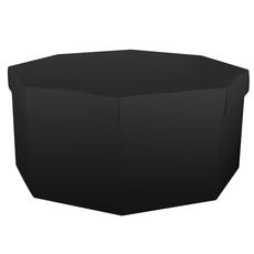 Large Hat Box - Gloss Black