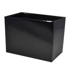 Large Rectangle Box - No Lid - Black Gloss