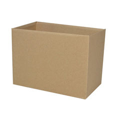 Large Rectangle Box - No Lid- Kraft Brown