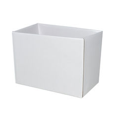 Large Rectangle Box - No Lid - White Gloss