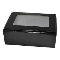 Large Shipper Box with Window - Black