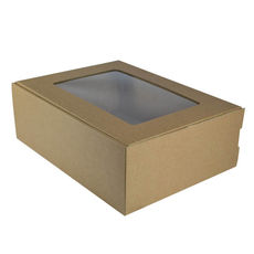 Large Shipper Box with Window - Kraft Brown
